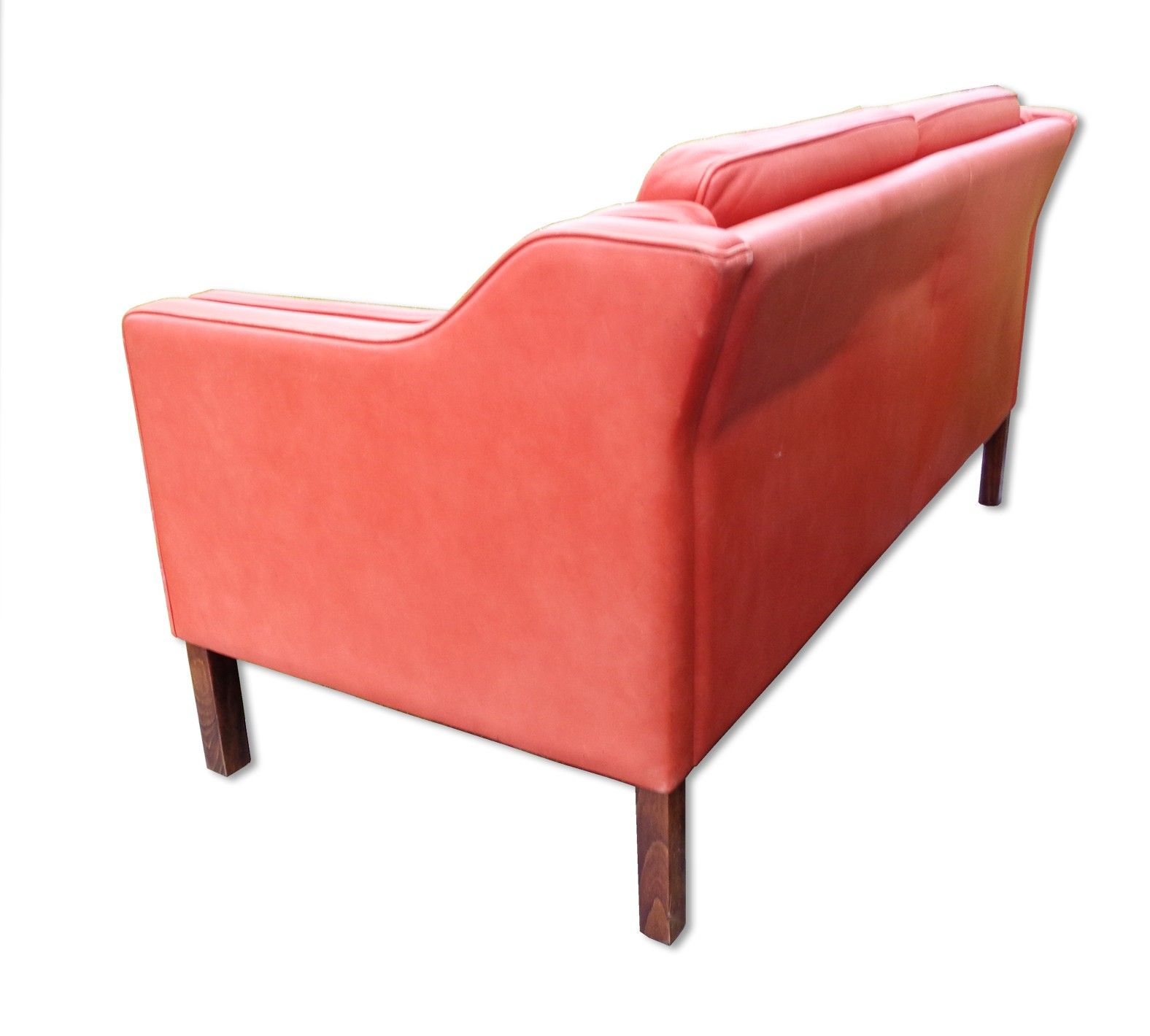Eva 2 Seater Sofa Upholstered In Leather Produced By Stouby Mobler 1980s Vintagesofa Upholstered Sofa 2 Seater Sofa Sofa