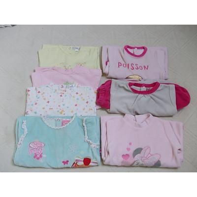 14€ --> Lot de 7 Pyjama Fille 6 Mois : 14 mois  --> OCCASION