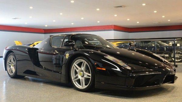 Black Ferrari Enzo Gets Smoky at Auction!