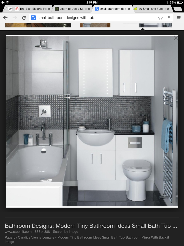 Grey small bathroom   Bathroom Remodel Ideas   Pinterest   Small ...