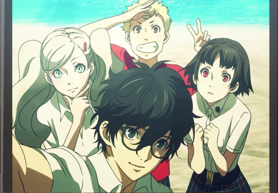 "Persona 5 the Animation Episode 19 ""Aloha"". Amamiya Ren"