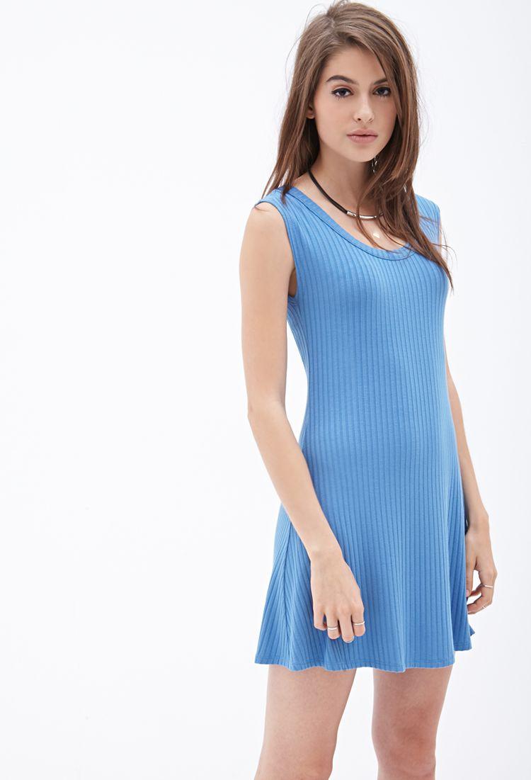 Ribbed Skater Dress | Forever 21 - 2000138368 | Fashion | Pinterest ...