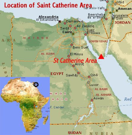 Map showing the location of saint catherine area unesco world map showing the location of saint catherine area unesco world heritage site on the sinai gumiabroncs Gallery