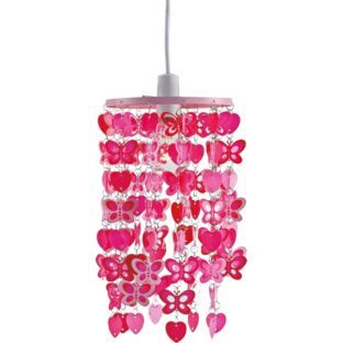 Buy Spotted Butterfly Pendant Light Shade Pink at Argoscouk