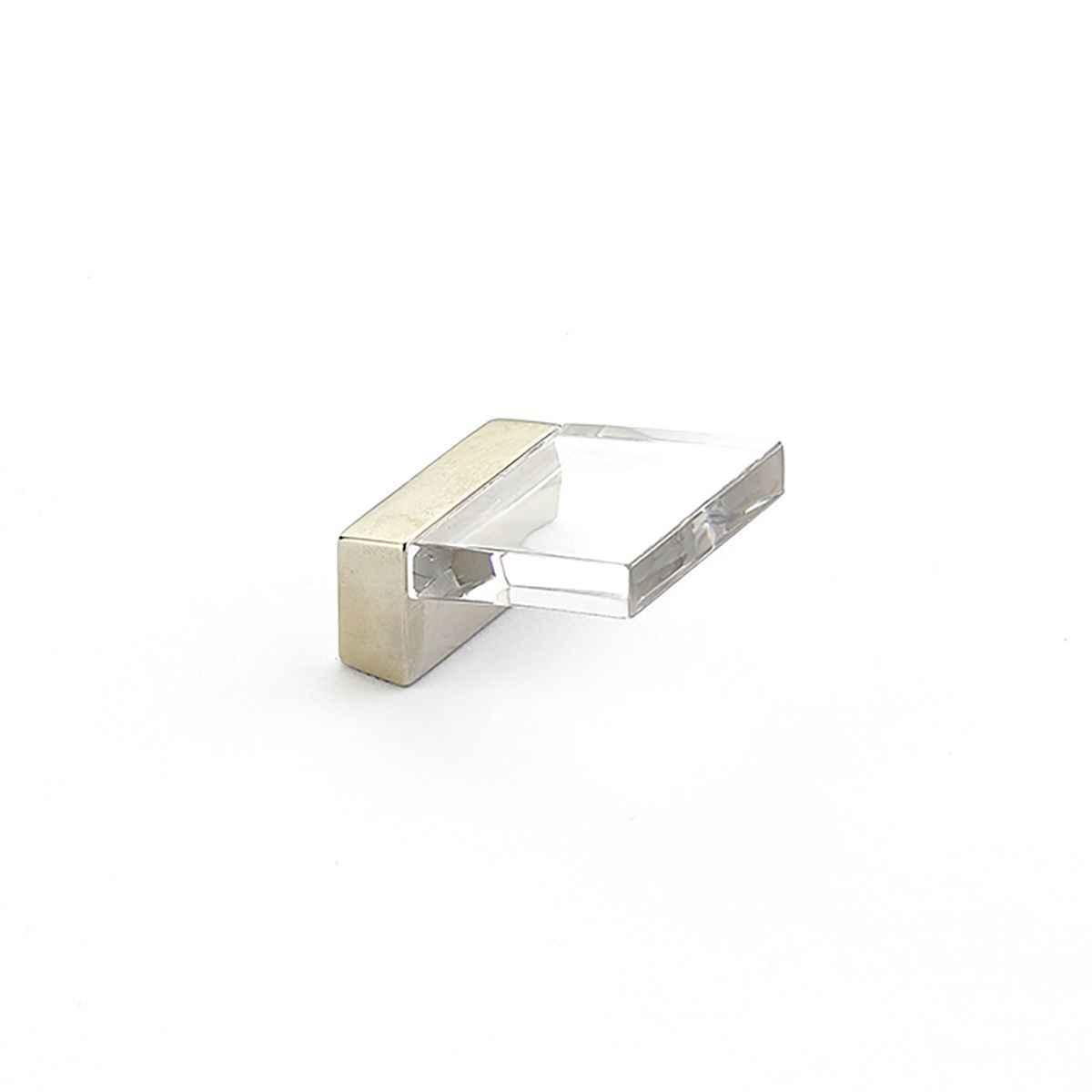Schaub And Company 319 Positano Inch Center To Center Finger Cabinet Pull  Satin Nickel / Clear Cabinet Hardware Pulls Finger
