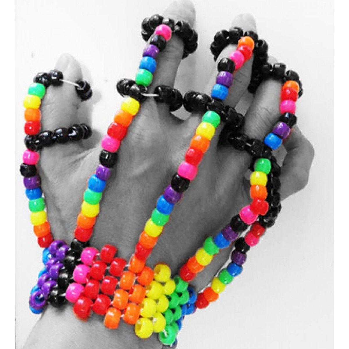 Rainbow Kandi Fingerlets