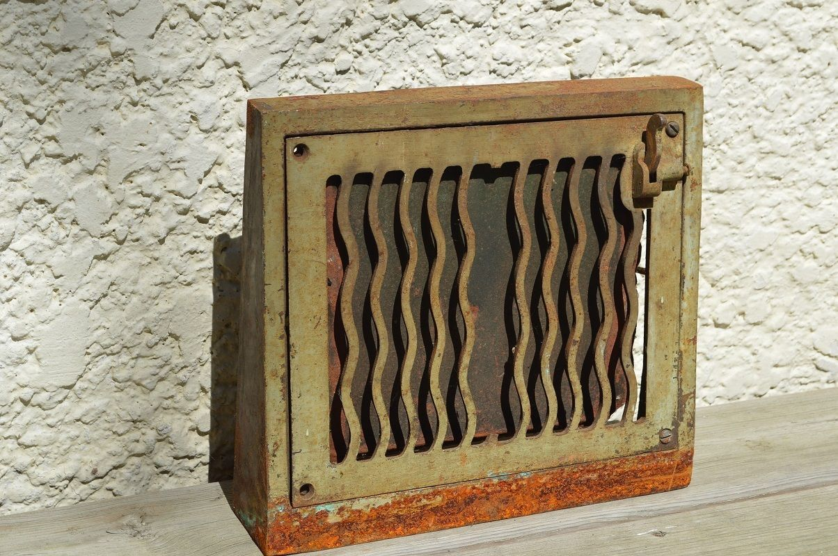 Vintage Victorian Cold Air Return Wall Floor Grate Art