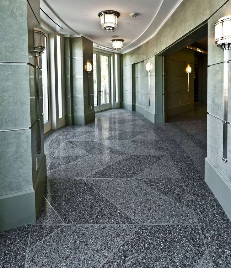 Terrazzo Flooring Kit For Interior Of Contemporary