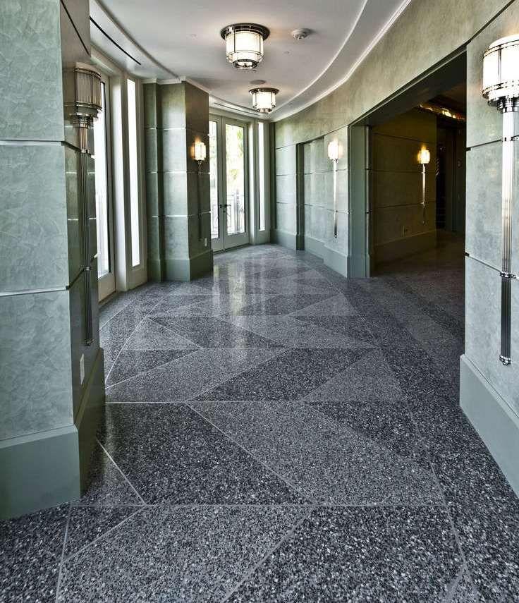 Terrazzo flooring kit for interior of contemporary for Design terrazzo