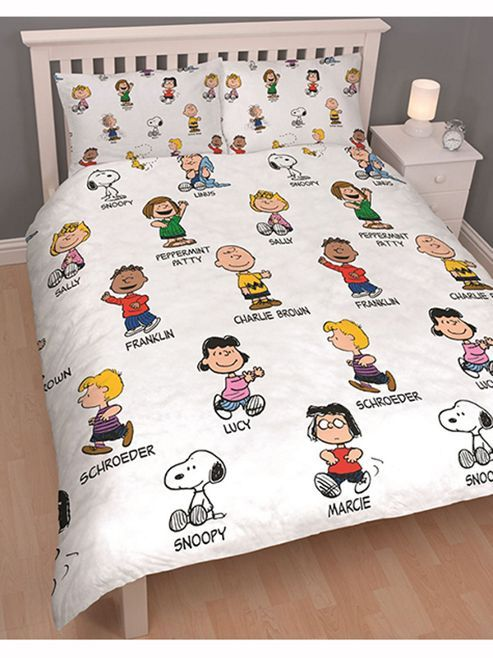 Tesco Direct Peanuts Snoopy Double Duvet Cover And Pillowcase Set Kids Duvet Cover Snoopy Double Duvet Covers