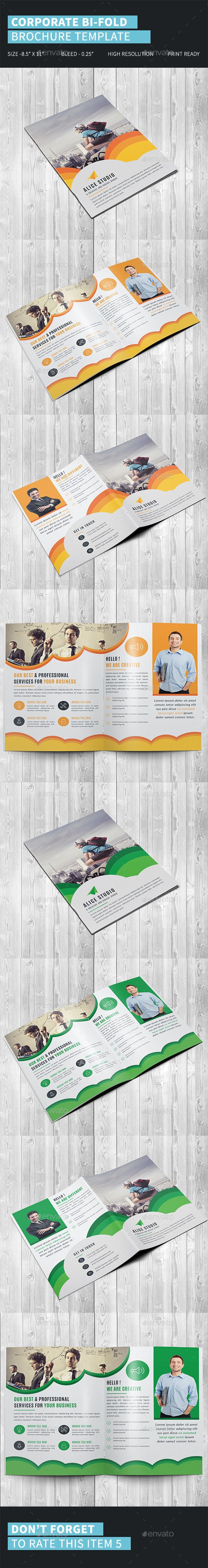 corporate bi fold brochure template pinterest brochure template