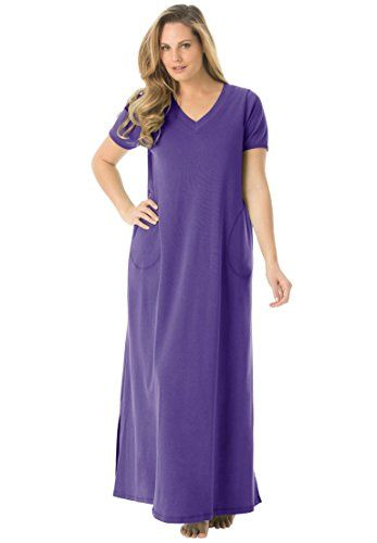 3fba4dd2954 Dreams Co Womens Plus Size Maxi Lounger Dark VioletM -- See this great  product.Note It is affiliate link to Amazon.