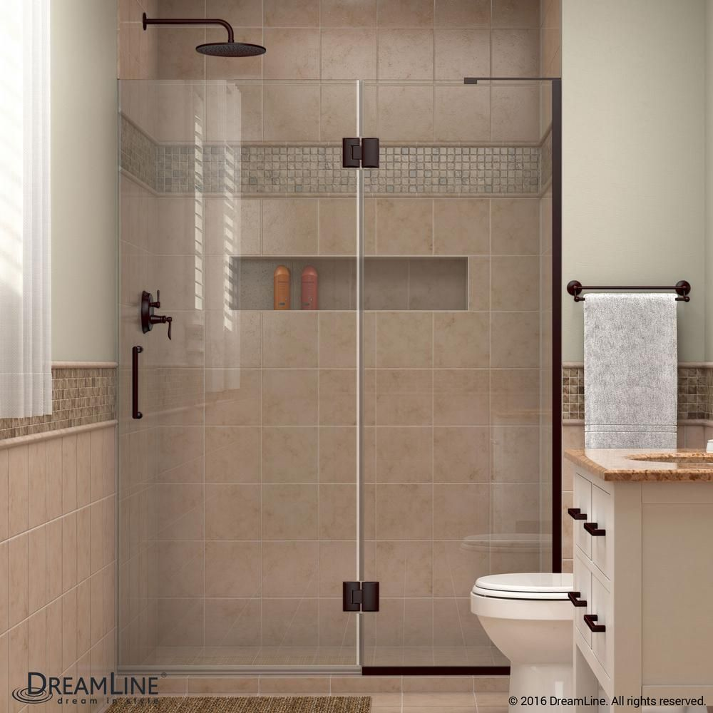 Dreamline Unidoor X 50 In X 72 In Frameless Pivot Shower Door In