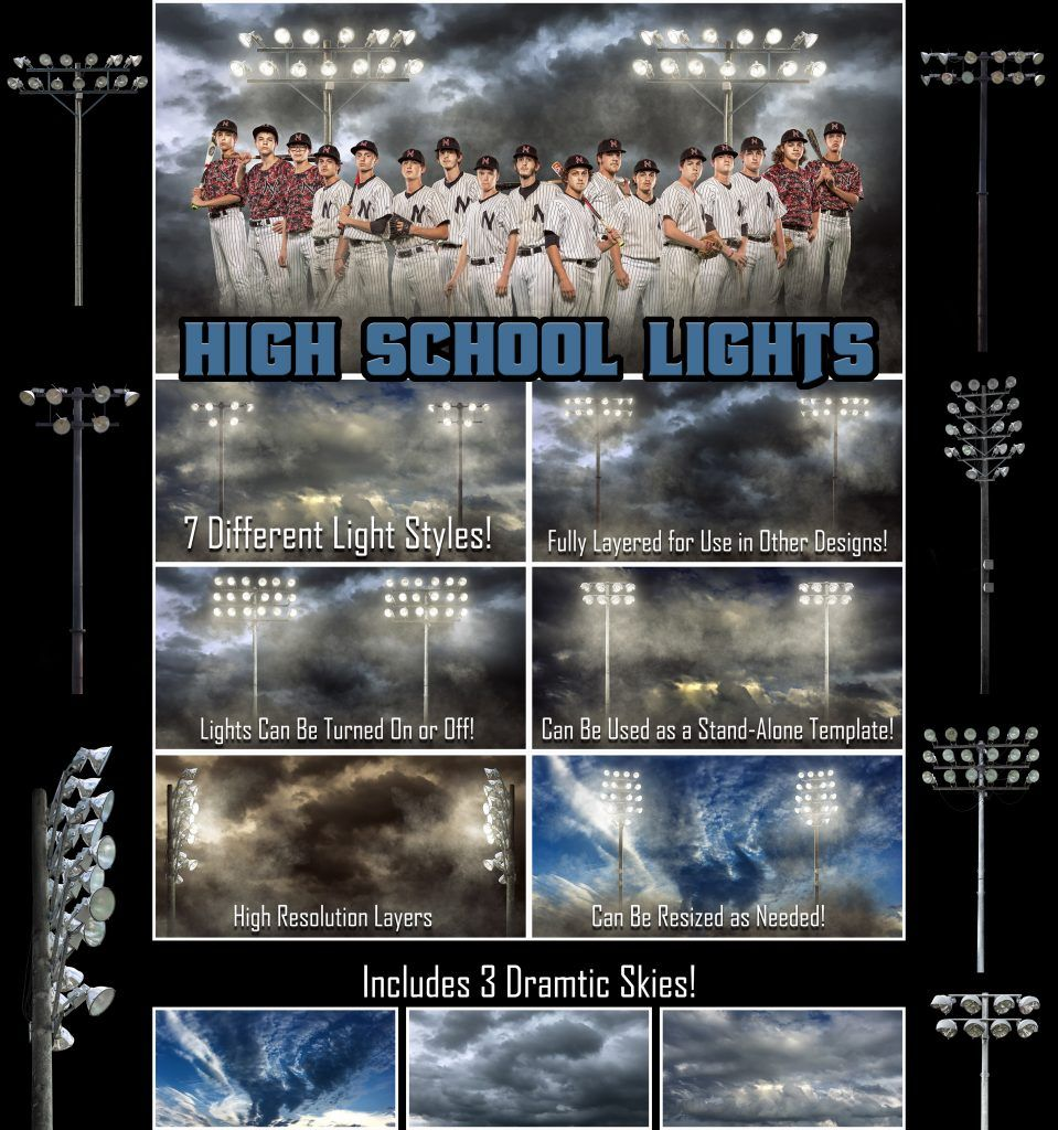 Templates for Sports Photographers - Perfect for Football, Baseball ...