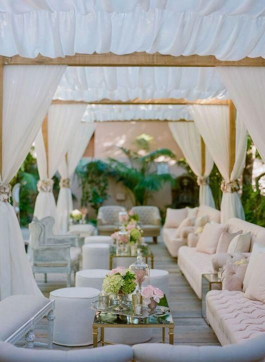 Click to see some of our very favorite real-wedding photos from 2015, including this look at a tented area at the reception