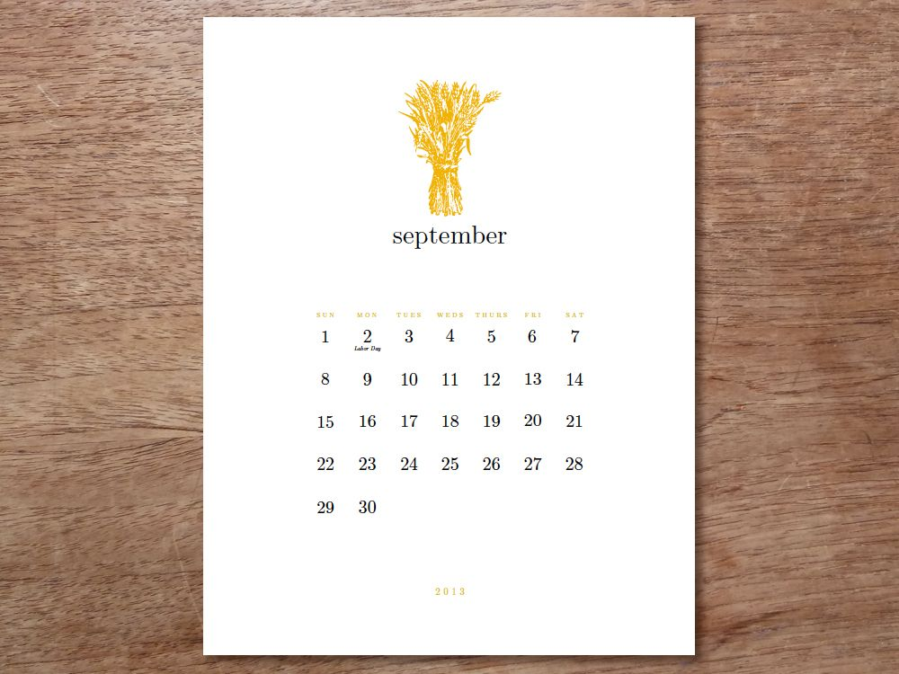 Printable Calendar - Simple Woodcuts Printable calendars - perpetual calendar template