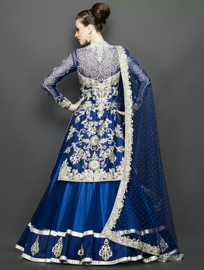 Royal blue with silver combination bridal