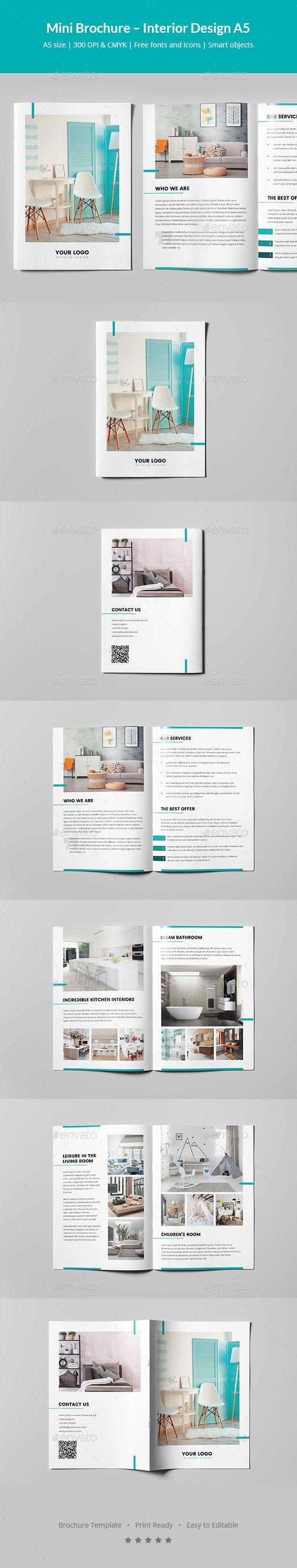 Mini Brochure Interior Design A5 Pinterest Brochures Brochure