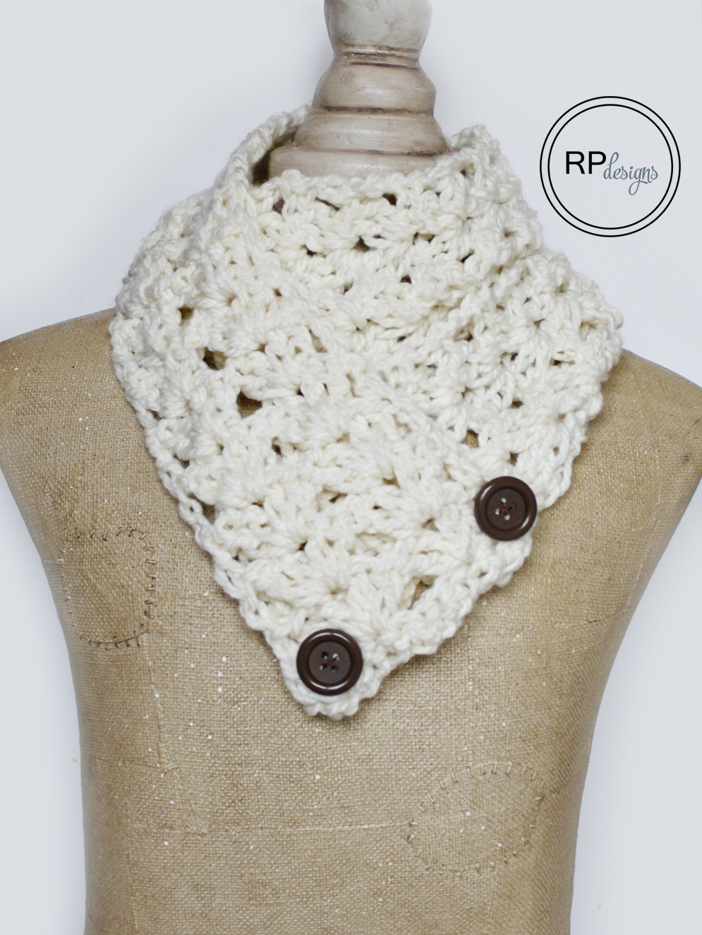 Button Scarf Crochet Pattern | Crochet | Pinterest | Croché, Chal ...