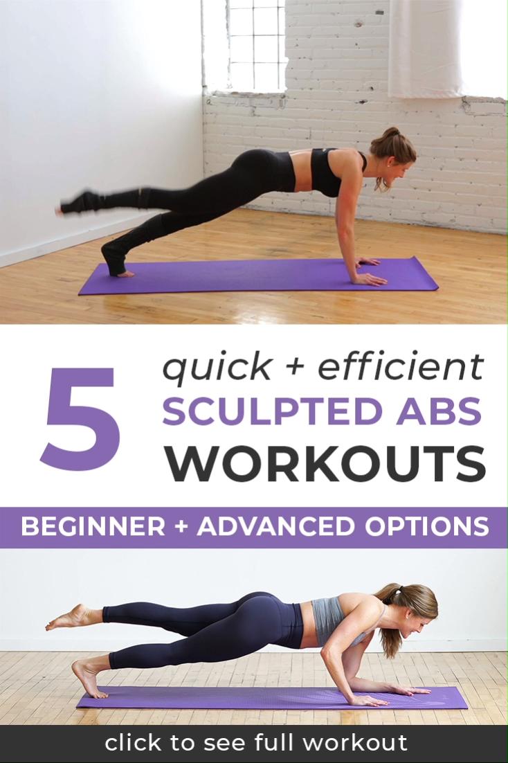 5 Quick + Efficient Sculpted Abs Workout