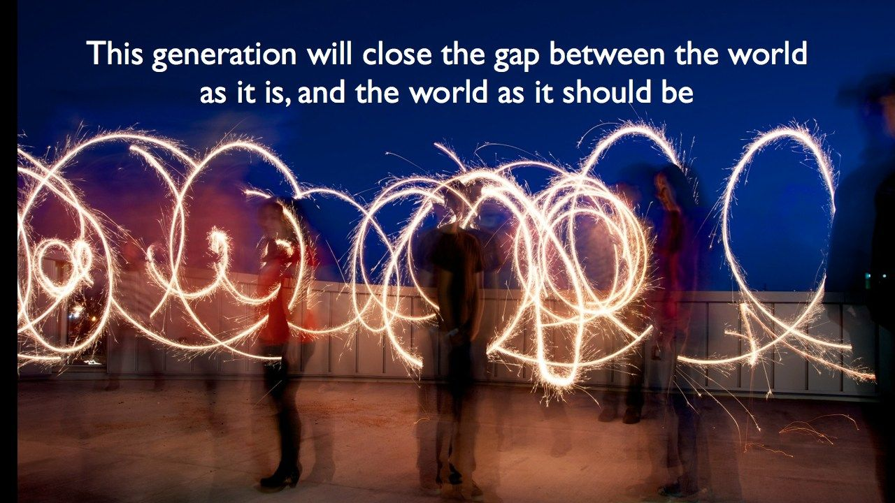Millennial Generation. Inspirational quote. Leadership, Education