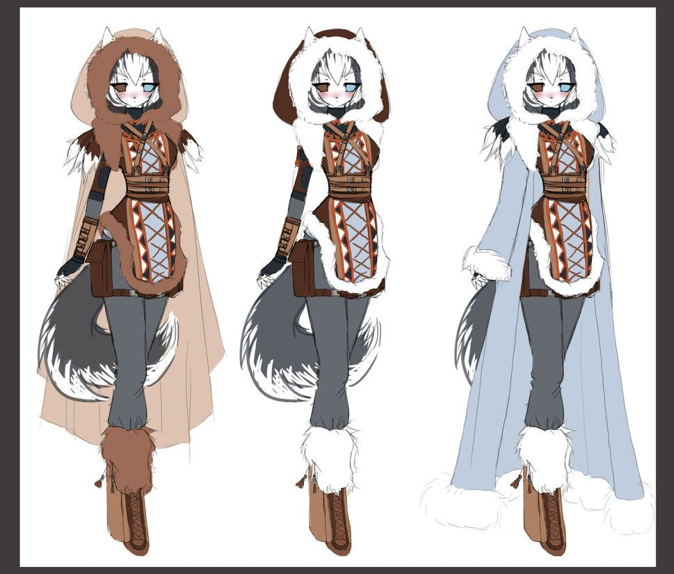 anime winter clothes cartoon cold styles 22067wall jpg clothes
