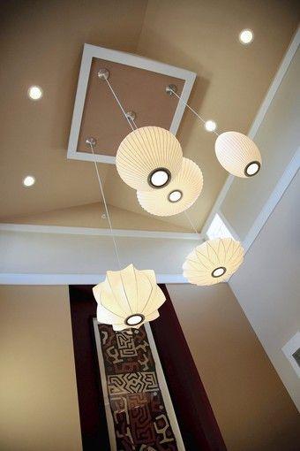 Kenwood living room 2 story ceiling lighting