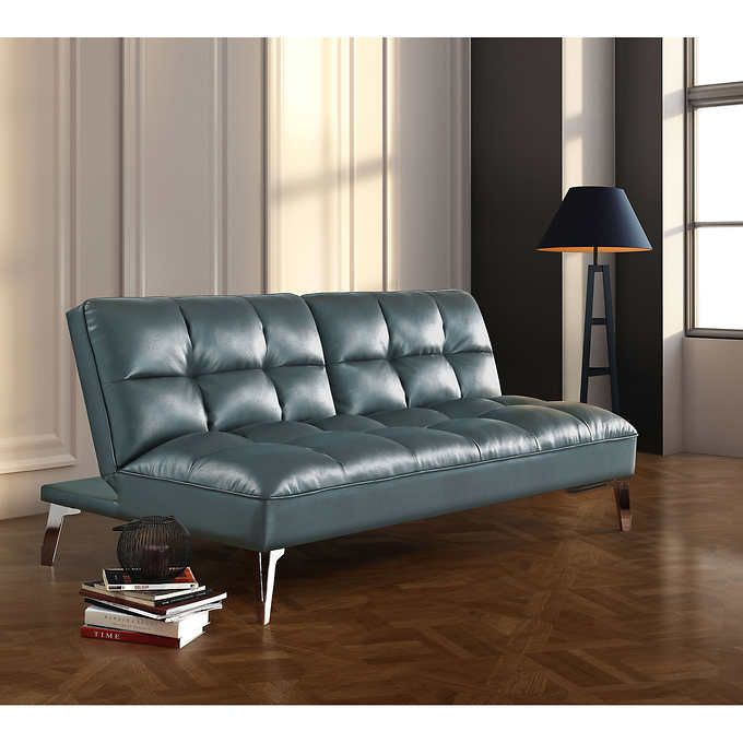 Del Fabro Grey Bonded Leather Sofa-lounger