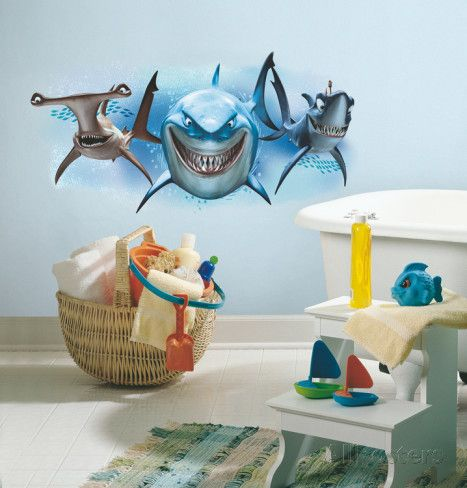 Superieur Finding Nemo Sharks Peel And Stick Giant Wall Decals