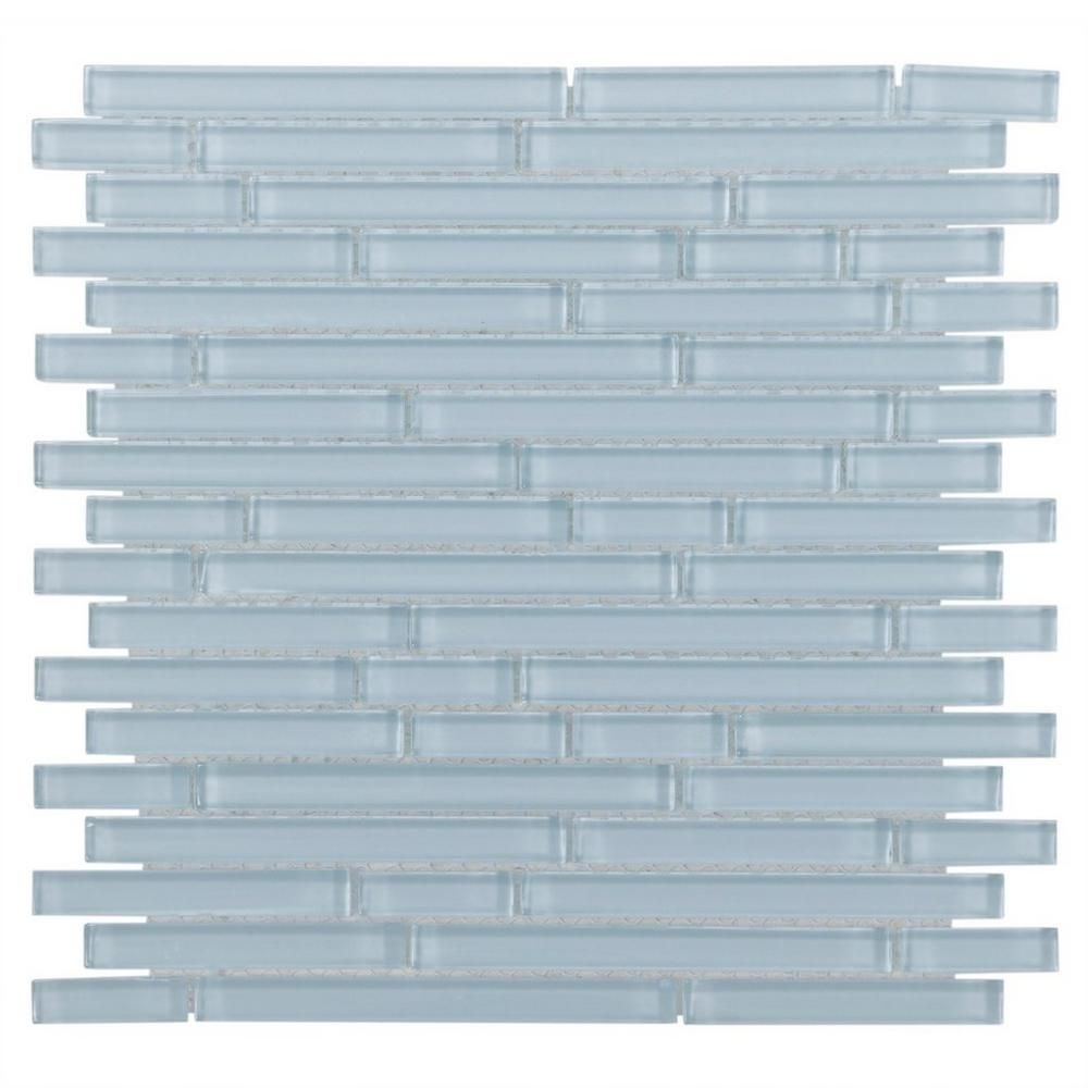Floor And Decor Glass Tile Spa Blue Shiny Stick Glass Mosaic  Mosaics Spa And Bathroom Tiling