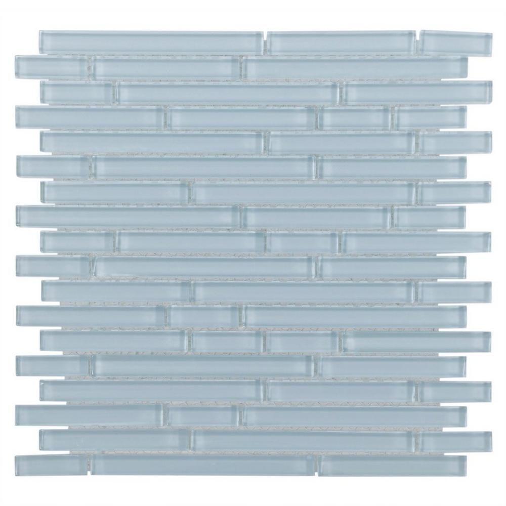 Floor And Decor Glass Tile Spa Blue Shiny Stick Glass Mosaic  Mosaics Spa And Bathroom Tiling