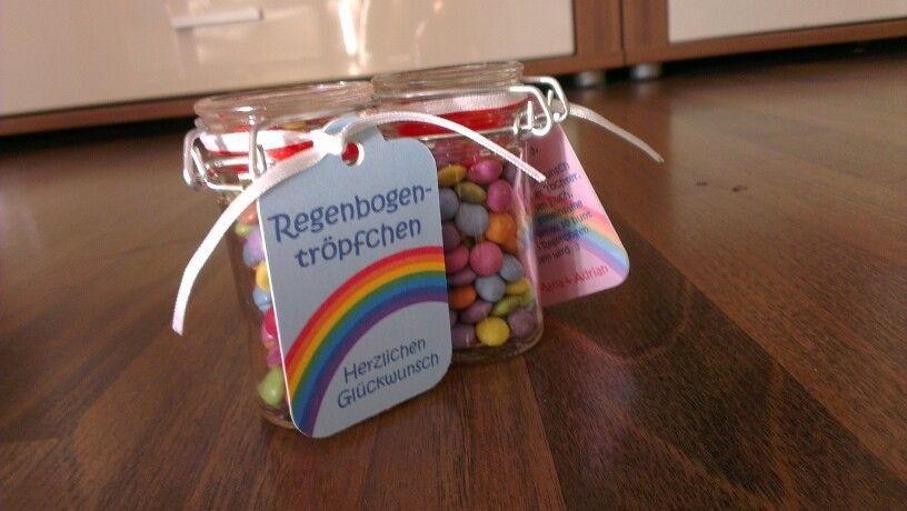 Geschenk Regenbogentröpfchen Herzlichen Glückwunsch