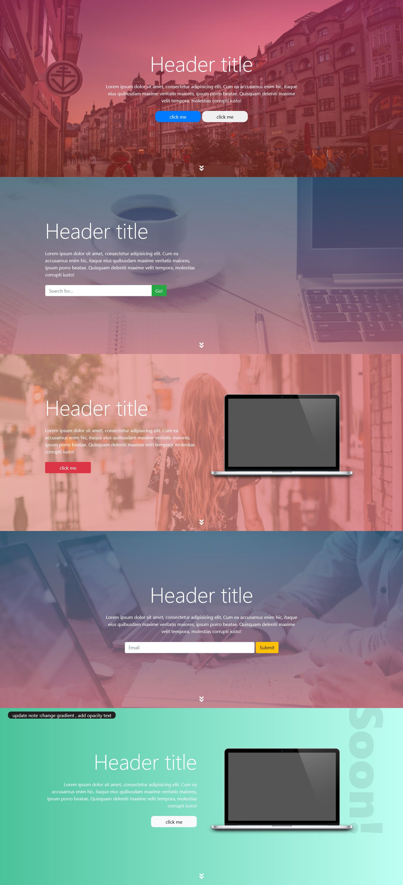 header Sections #webdesign #ui #layout #section #bootstrap