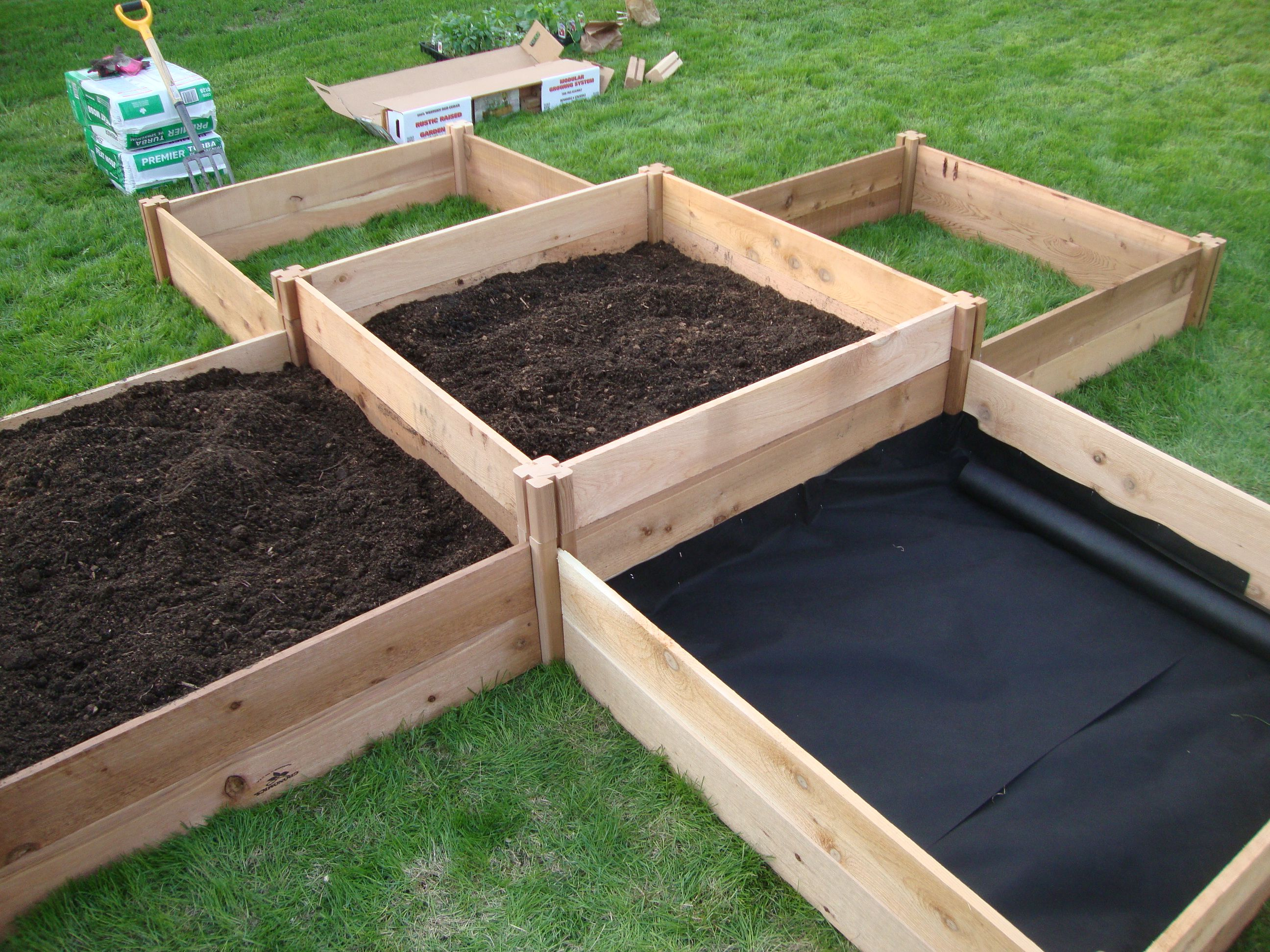 Raised Garden Beds Made From Prefab Kits