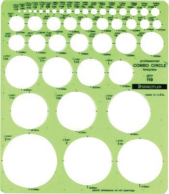 Staedtler-Mars Combo Circle Stencil Template | Stencil templates ...