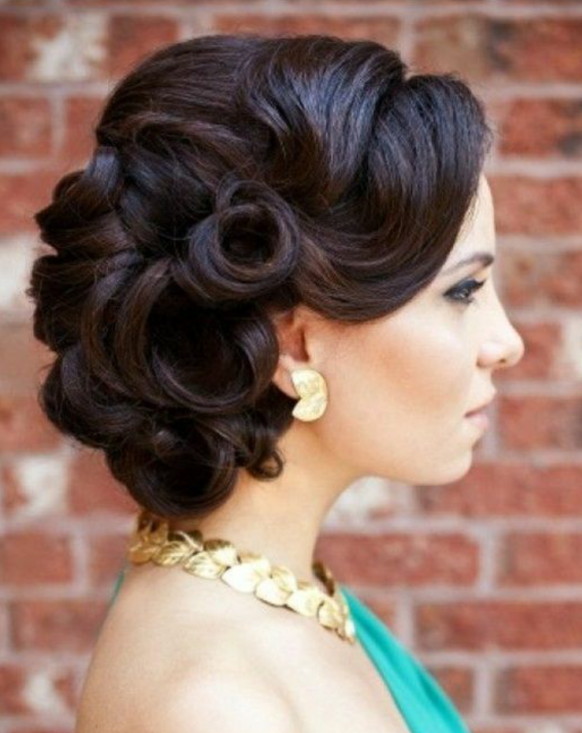 hair curly styles for weddings show me your retro glam all or half up 3643