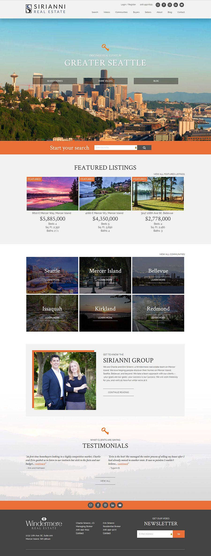 Seattle Washington Realtors Erin And Charlie Sirianni Have Taken Real Estate Online Ma Real Estate Website Design Real Estate Website Online Website Design