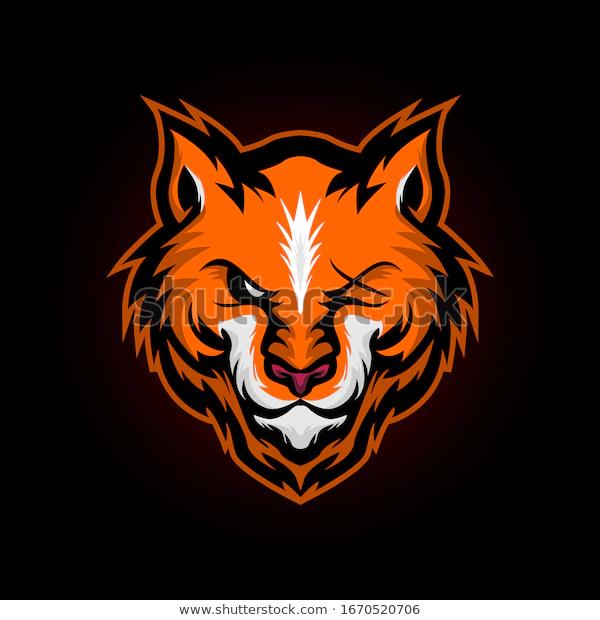 Fox Head Mascot E Sport Team Stock Vector Royalty Free 1670520706 Gambar Serigala Desain Logo Cara Menggambar