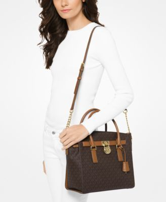 f9e54d50ef424b Michael Michael Kors Studio Hamilton Large East West Satchel - Tan/Beige