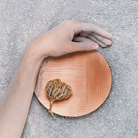Kümülatif uses copper, linen and aluminium for industrial-themed homeware collection