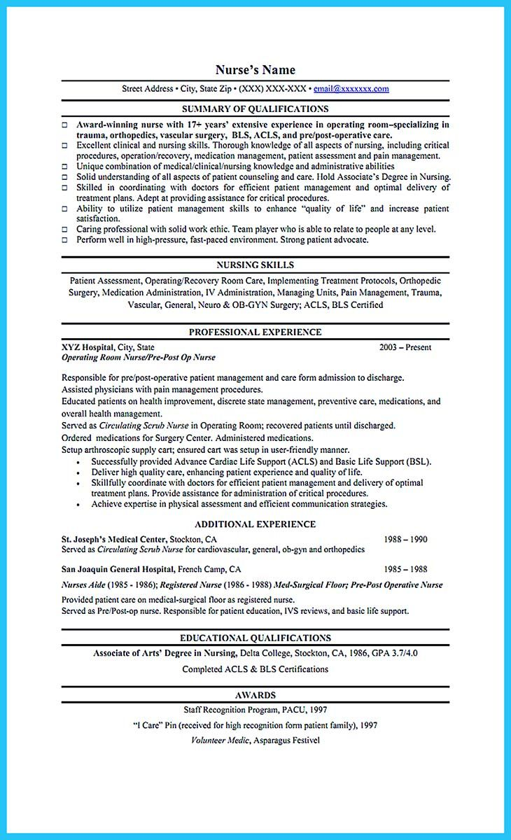cool High Quality Critical Care Nurse Resume Samples