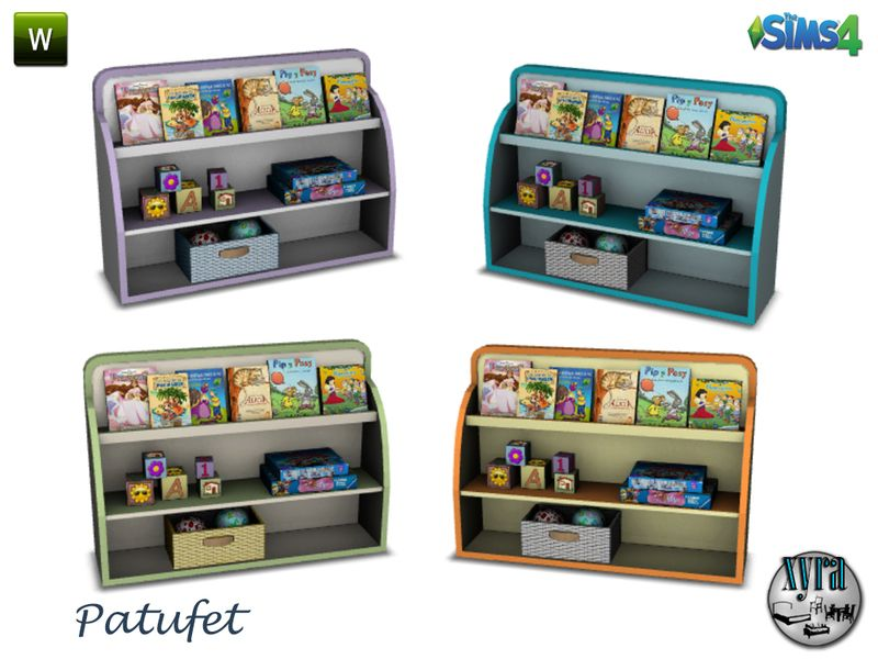 Bookshelf Found In TSR Category Sims 4 Kids Bedroom Sets