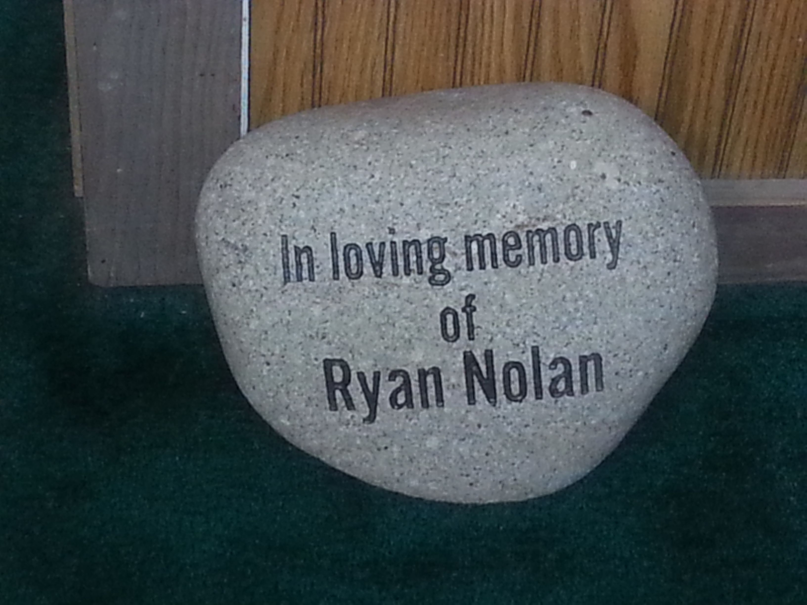 Looking for a way to keep the memory of a loved one alive at home? Garden Art Rocks can also be inscribed for those we have lost. (Schlitzberger and Daughters Monument Co., Inc.) www.pinterest.com/schlitzberger