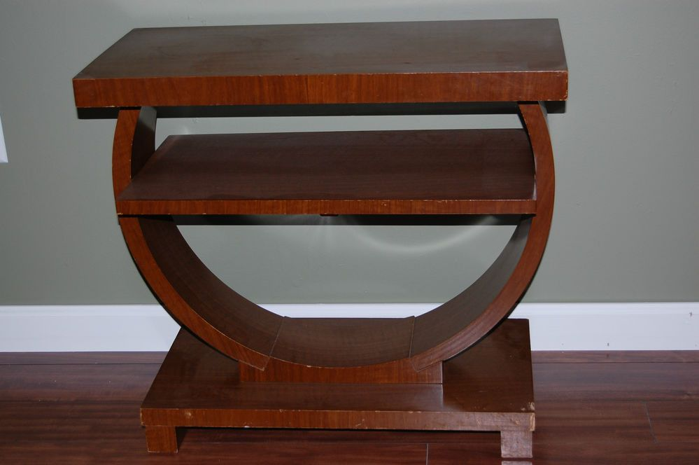 Best Brown Saltman Art Deco End Table Night Stand Mid Century 400 x 300