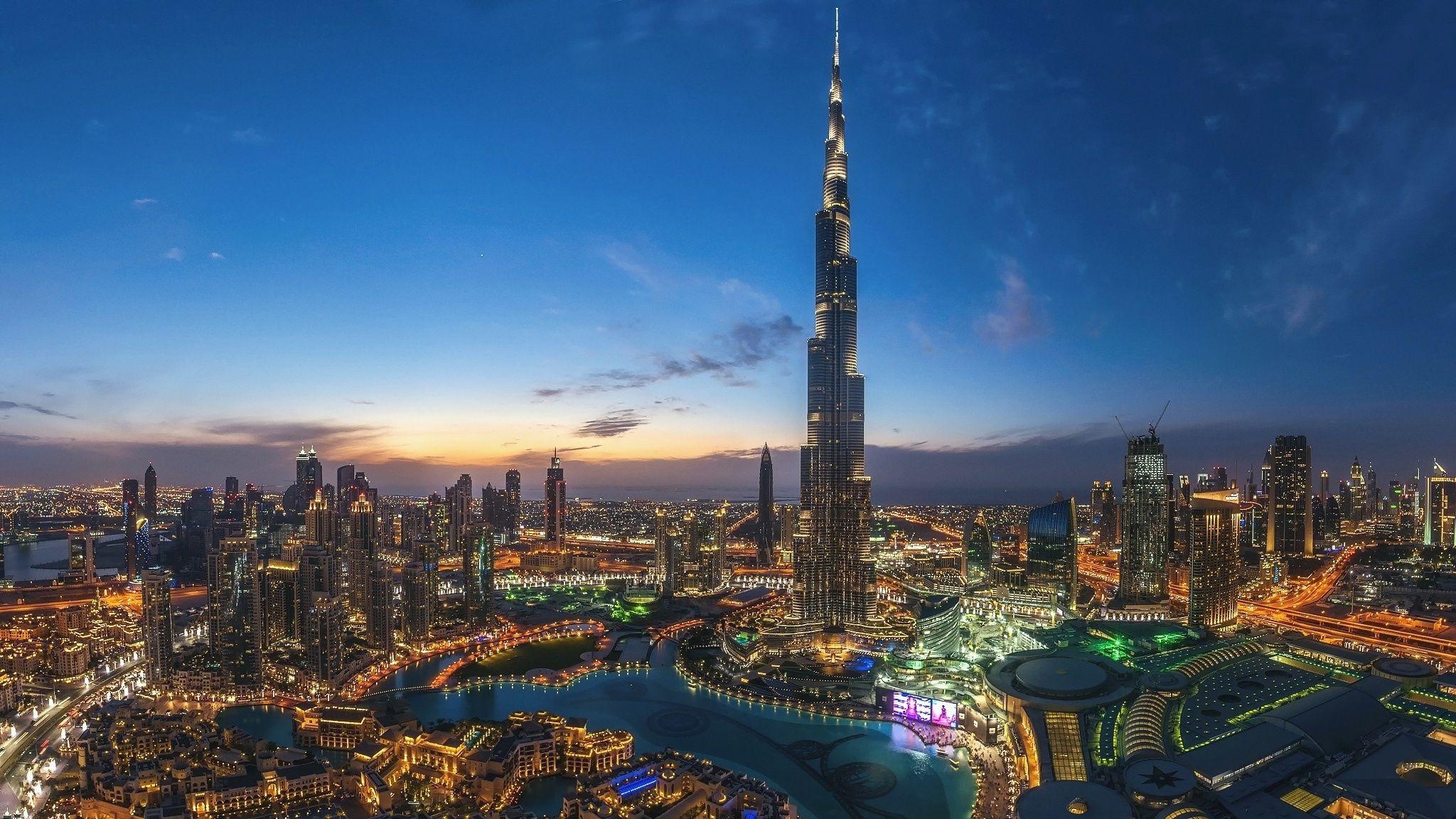 Night Dubai City Burj Khalifa Light Wallpapers 2048x1152 World Wallpaper Lit Wallpaper Summer Wallpaper Burj khalifa night view hd wallpaper