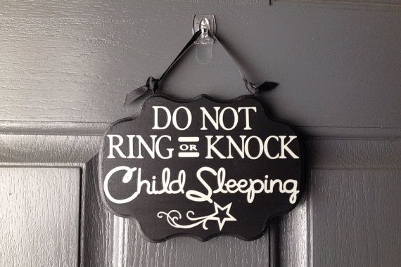 Child Sleeping Sign Do Not Ring Or Knock Sign Front Door Sign