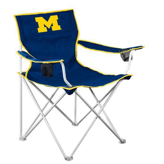 Logo University Of Michigan Adult Tailgate Chair Great