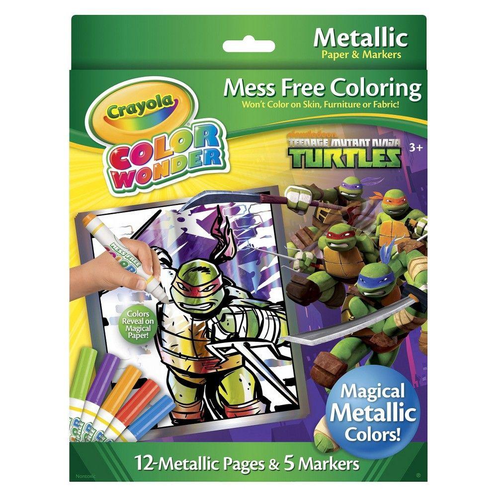 crayola color wonder metallic box teenage mutant ninja turtles - Color Wonder Books