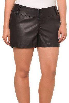 Torrid Black Pleather Faux Leather Shorts Goth Punk Biker Plus Size 22 for sale on ebay.