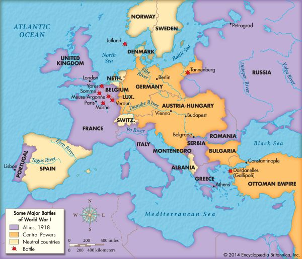 World War I Wwi - fresh germany map after world war 1